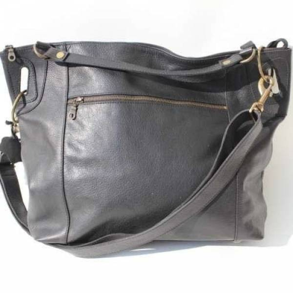 Daisy Tote Black Waxy Leather