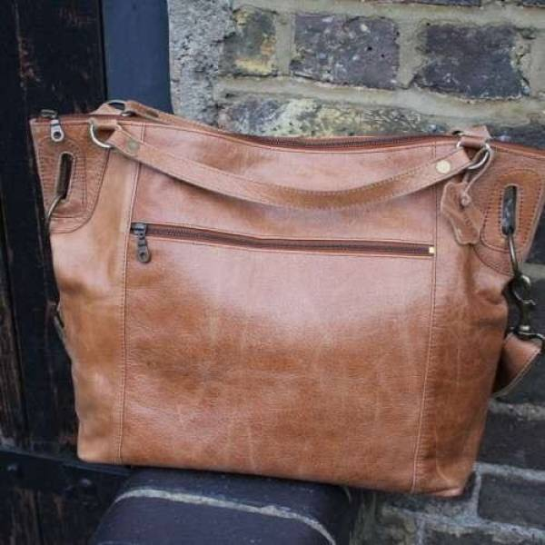 Tote Tan Leather