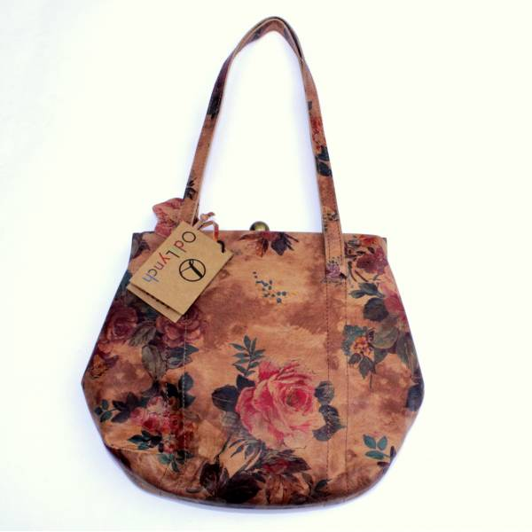 Dolly Floral 14 Summer Garden Leather Shoulder Clipframe Bag