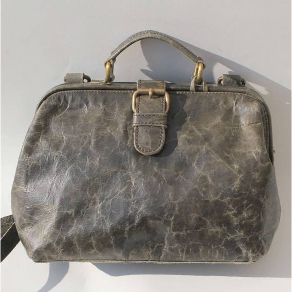 Doctor Bag Small Charcoal Leather
