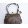 Doris Shoulder Bag Clipframe VD Leopard Print