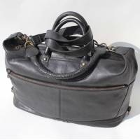 Gertrude Tote Black Leather