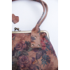 Doris Shoulder Bag Clipframe Floral Print Leather