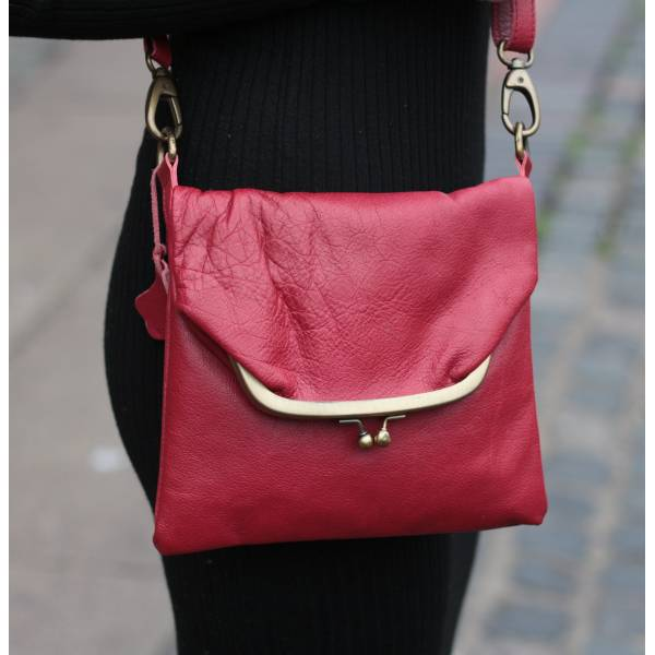 Dublin clip mini bag - red