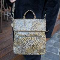 Amelie Backpack Convertible Leopard Print Leather