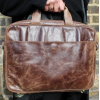 Laptop Bag Berlin In Brown Leather