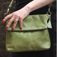 Mini Amelie Foldover Apple Leather Bag