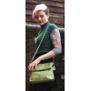 Mini Amelie Foldover Apple Green Leather Bag