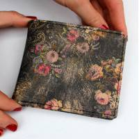 Alberta Wallet Vintage Floral Print Leather