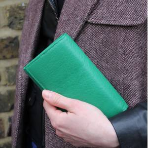 Irish Green Leather Wallet