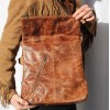 Amelie Tan Scrunchy Messenger Bag