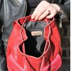Rucksack Small Red Leather
