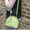Evanna Clip Bag With Floor Apple Green Leather