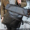 Rucksack Convertible Black Leather
