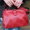 Doctor Bag Small Red Leather