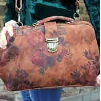 Doctor Bag Medium Floral 14 Suede