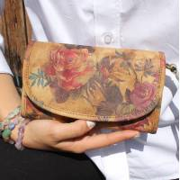 Theatre Bag Floral n14 Leather
