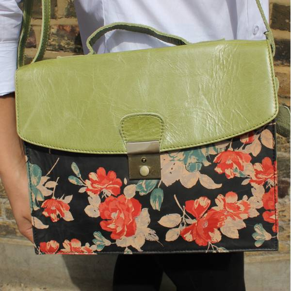 American Funky Bag Apple Green Leather