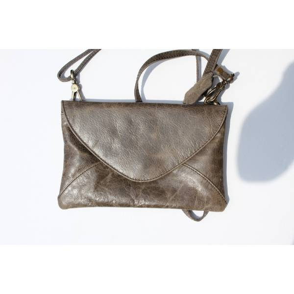 Sligo Clutch bag Charcoal Leather